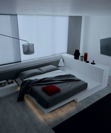 Wow. Just in, a low platform bed with under bed motion sensor lighting for that cool open plan apartment. #platform beds #lowbeds