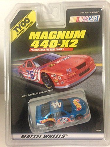 TYCO HO Scale 440x2 Pontiac Grand Prix #44 Slot Car:   Tyco 33584 #44 Hot Wheels Pontiac Grand Prix. HO Scale Electric Slot Car. Magnum 440-X2 Chassis. Ages 8 and Up. Produced in 1997.