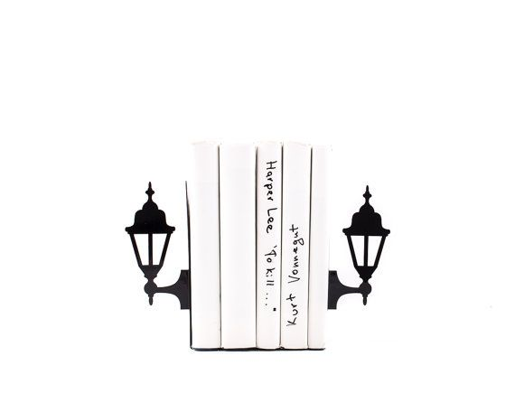 Metal Bookends  Old Lamp Posts // book holders for your bookshelf // housewarming gift // modern home decor // FREE SHIPPING /