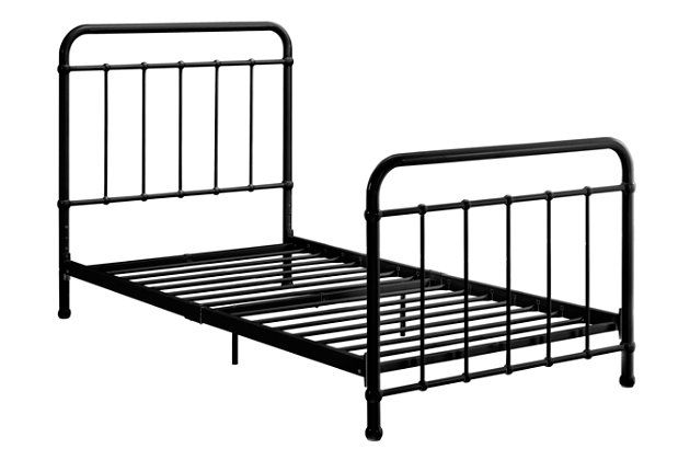 Lynly Iron Twin Bed In 2020 Iron Twin Bed Black Iron Beds Iron Bed