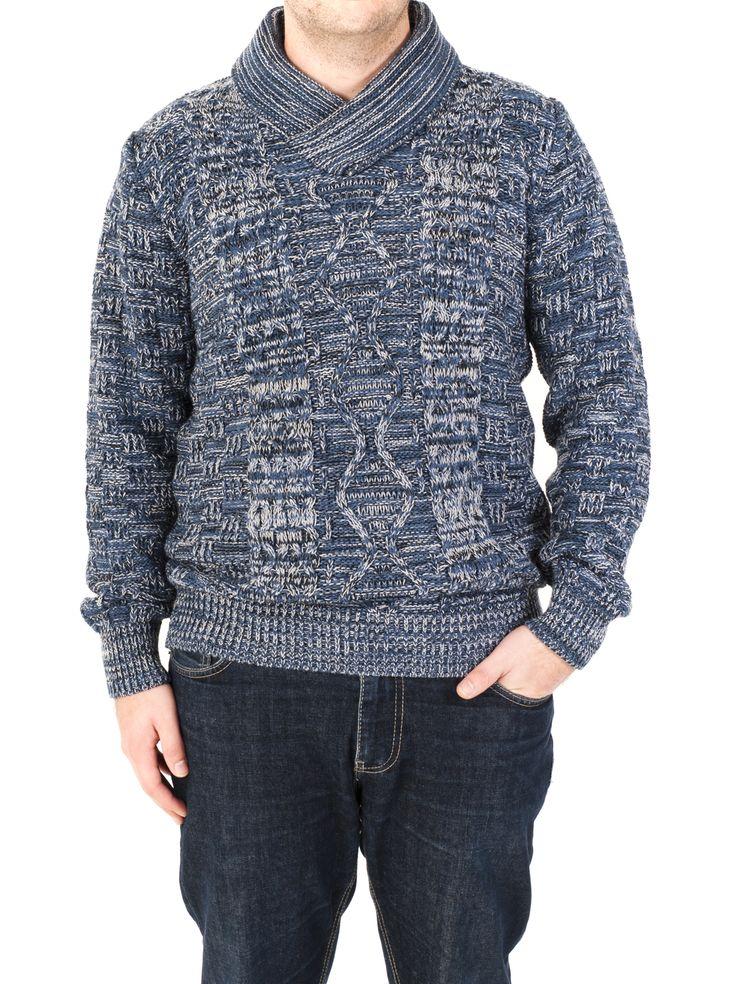 Jersey de hombre de cuello pico y punto aranés. Ideal para este Invierno de 2014 en colores azul, marrón, kaki y negro. ¿Con cuál te quedas?