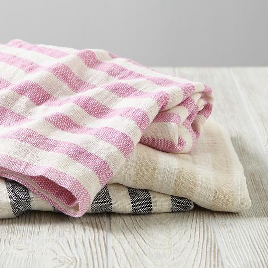 Bamboo Baby Blanket (Black Stripe) | The Land of Nod