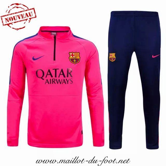 acheter Nouveau Survetement de foot FC Barcelone Rose 2015 2016 grossiste