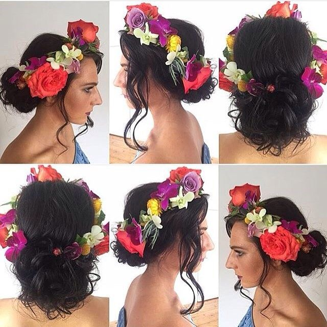 """""""Blushbar gorgeousness with @hdyett - amazing flowercrown by @stantongeorgie - what a team! #hairbygez #makeupbymel #hairdo #flowercrown #makeup #makeupbar #flowers #hairflowers"""" Photo taken by @blush_bar on Instagram, pinned via the InstaPin iOS App! http://www.instapinapp.com (11/16/2015)"""