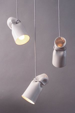Strangled Lights: ceramic pendant lights.