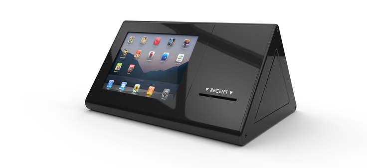 The iHOLD L.POS Enclosure is a revolutionary design which combines a tablet, card reader and printer within a unique and stylish L-Shaped design.   http://www.imageholders.com/products/ihold-l-pos-enclsoure