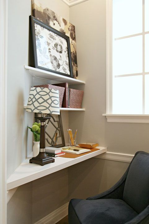 Utilize An Awkward Corner Of The Living Room By Adding In Some Shelving And Making It