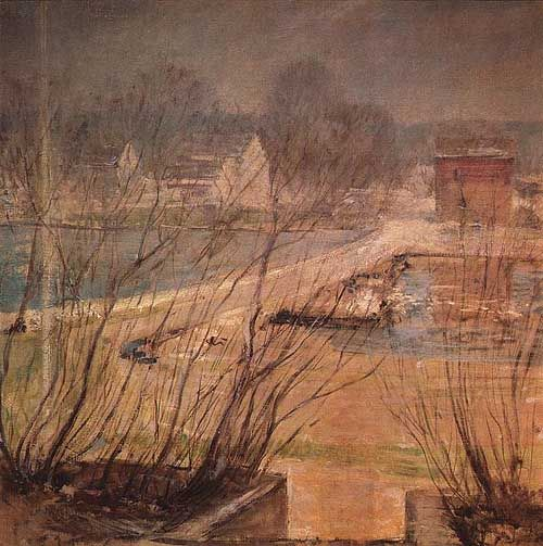 View From The Holley House Cos Cob Connecticut by John Henry Twachtman (USA)