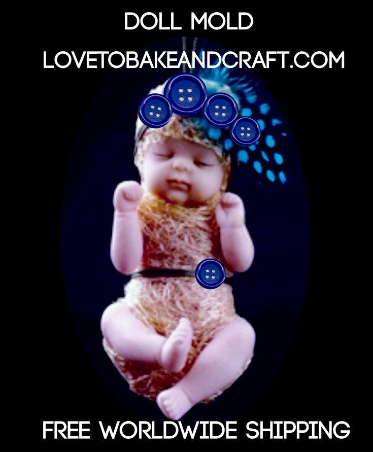 Polymer babies, polymer baby, polymer doll, doll mold, baby MOLD, doll mould, baby mould, polymer doll, by lovetobakeandcraft.com