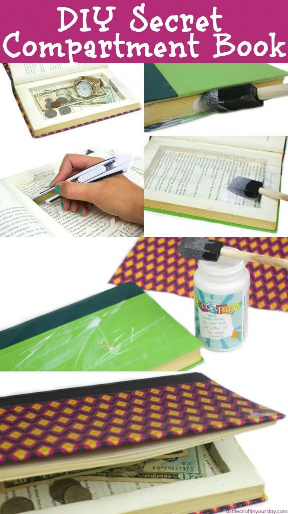 Diy secret compartment book crafts paper and it is for Diy hidden compartment
