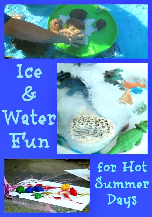Ice & Water Activities for Hot Summer Days - lots of fun ideas for ice play, water fun & cool treats!