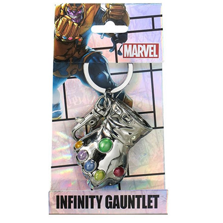 Marvel Comics Thanos Infinity Gauntlet Glove Colored Keychain
