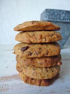 Cookie sans gluten, sans oeufs pour se régaler : recette de cookies,  » style Américain cookies « , moelleux à l'intérieur, croustillants à l'extérieur …Mais…En version plus saine. Kiwi-forme.net