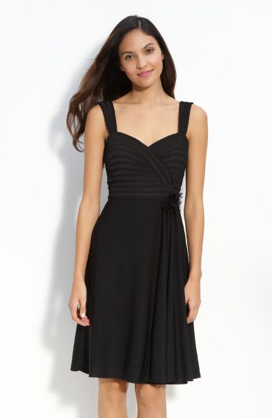 This Would Be A Beautiful Dress For A Casual Wedding. Bridesmaids Could  Wear Black Cocktail Dresses To Match The Sash!