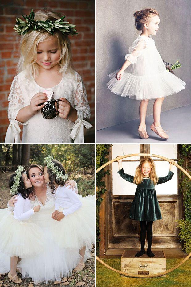 Long sleeved flower girl dresses | see more winter flower girl style ideas on www.onefabday.com