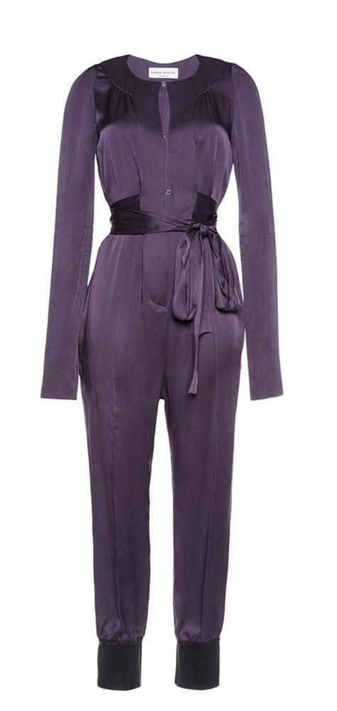 Sonia Rykiel Light Crepe Violet Satin Jumpsuit NTW    eBay