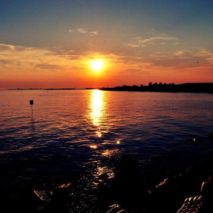 italy sea sunset beach