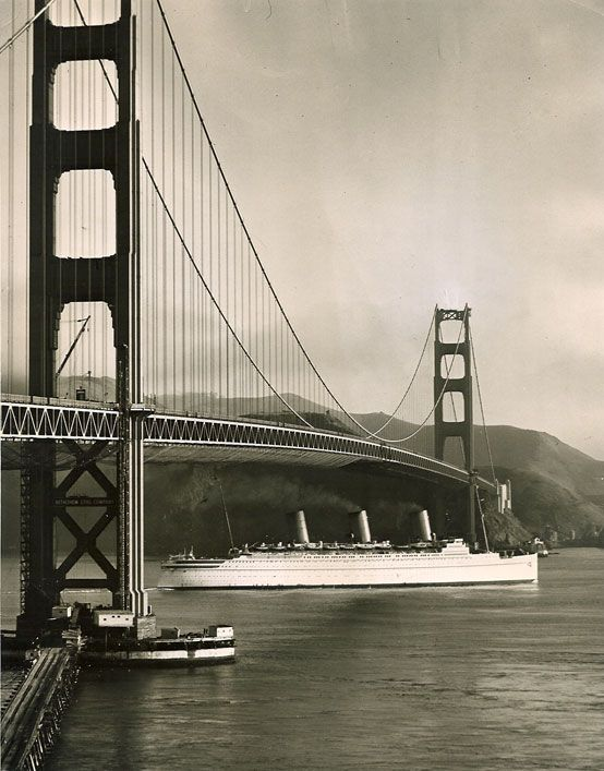 Canadian Pacific EMPRESS OF BRITAIN At San Francisco S - 1930s cruise ships