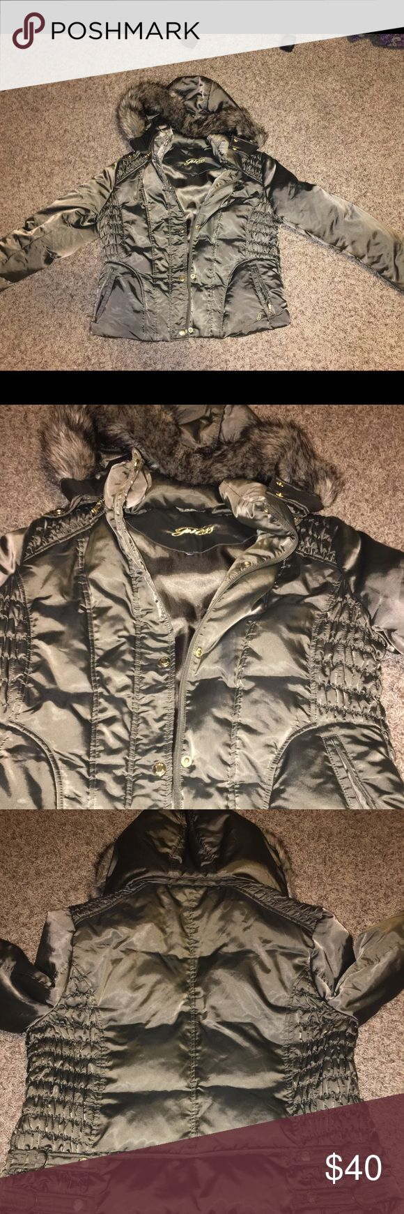 Guess hooded bomber jacket Clean guess fur-hooded bomber jacket Guess Jackets & Coats Puffers