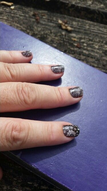 Lace Noir  on naked nails Cyndikoehler.jamberry.com
