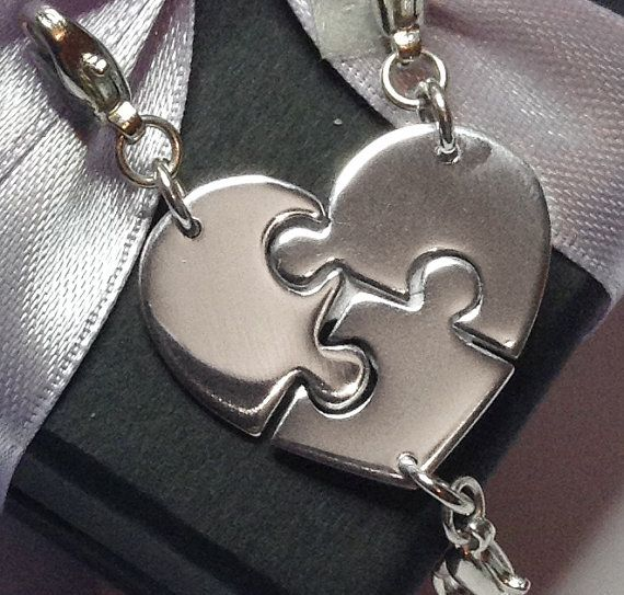 3 Best Friends Charms, Sister Charms, Best Friend Jewelry by HannahJacksonJ, $94