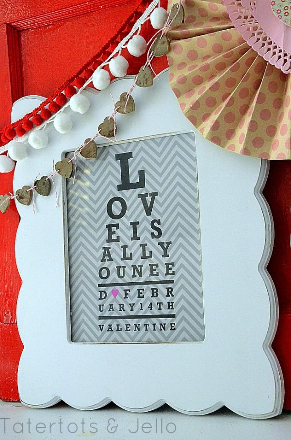 Free Valentine's Day Printables -- Love Is All You Need Eyechart Printable