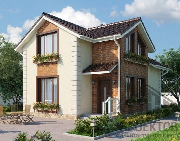 Проект дома из блоков 10-2051