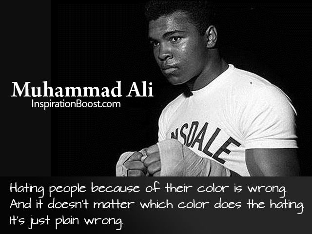 hating people because of their color is wrong. and it doesn't matter which color does the hating, it's just plain wrong
