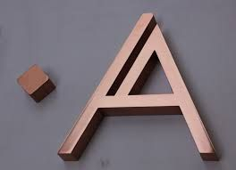 Image result for 3D letters LED WITH BRASS METAL SIDE