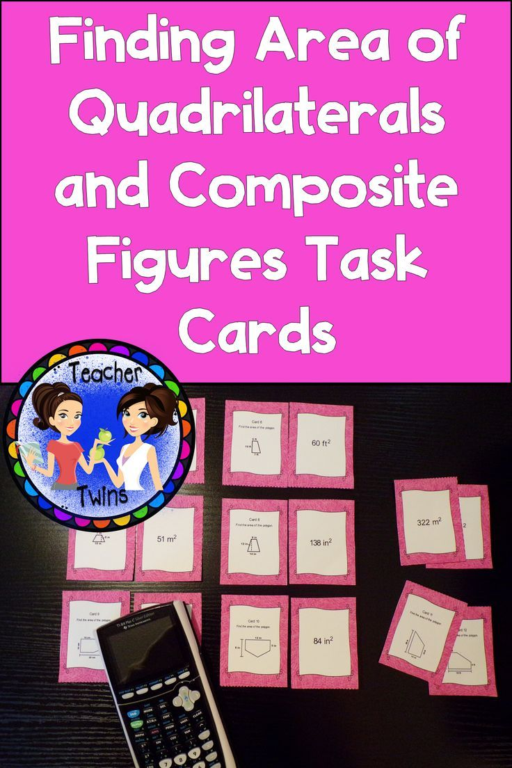 Finding Area Of Quadrilaterals And Composite Figures Task Cards In 2020 Pre Algebra Activities Task Cards Algebra Activities