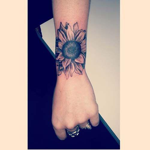 papatya bilek dövmeleri bayan daisy wrist tattoos for women