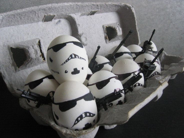 Stormtrooper eggs.  Ben would crack up if he got one in his lunch :-)