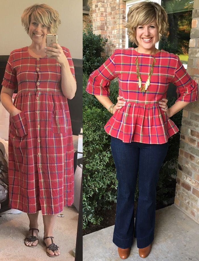 ABC Mom Style: Thrifty Thursday - A Plaid Refashion for Fall upcycled fashion
