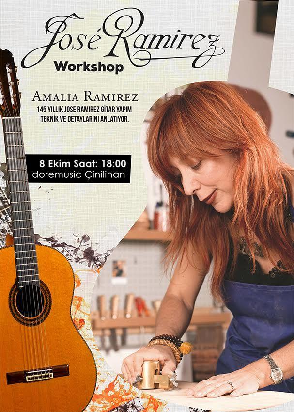 On Friday Amalia Ramírez will visit Turkey to make a presentation with our distributor Dore Music  #ramirezguitar
