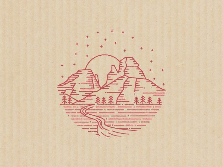 Made this little stamp for Indian Gardens. I really like how this mark works with no copy.