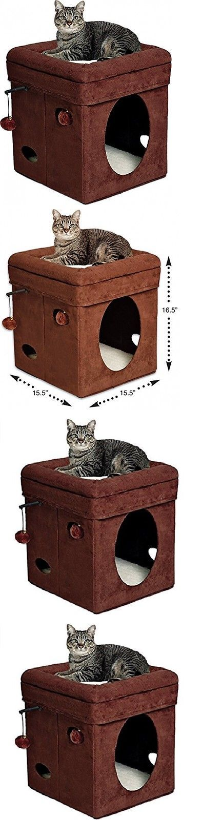 Furniture and Scratchers 20740: Curious Cat Cube House Condo Home Kitty Furniture Scratcher Play Toy Game Cats -> BUY IT NOW ONLY: $30.75 on eBay!