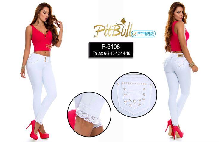 Nuevas colecciones, lo mejor de la moda, #moda #mujeres #bellas #jeans #fashion #pushup haz tus pedidos o información al Wpp +34 682379186 web vestidosyblusas.com Pantalon Colombiano levantacola de horma perfecta marca pitbull, color rojo, bolsillo trasero de diseño con piedras de moda. La bota como siempre en todos nuestros modelos es ajustada y los tres botones en la pretina