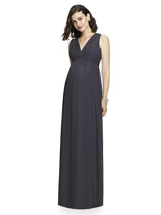 Dessy Collection Maternity Bridesmaid Dress M429 in Onyx