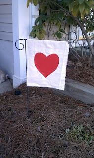Cheap Homemade Valentine's Garden Flag