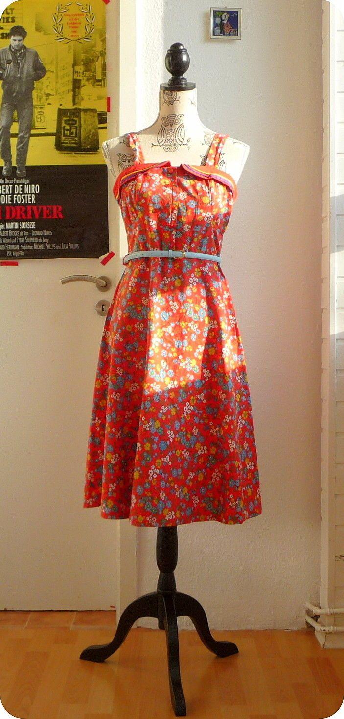 Vintage 50er Still Kleid Blumen Rockabella S M Tanzkleid Dress Robe Boho Prairie   Kleidung & Accessoires, Vintage-Mode, Vintage-Mode für Damen   eBay!