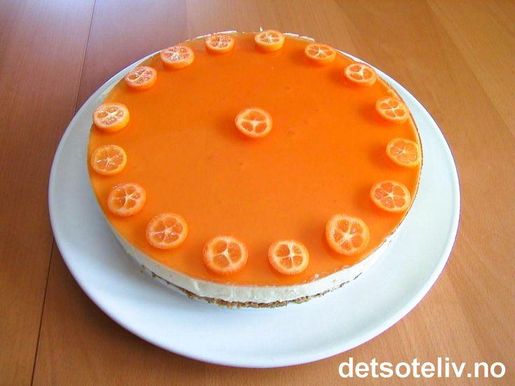 Ostekake med appelsin