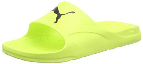 Puma Divecat unisex shower & bath slippers beach sandals - color selection: Colour: Yellow/Black | Size: 6 UK - http://all-shoes-online.com/puma/puma-divecat-unisex-shower-bath-slippers-beach-6