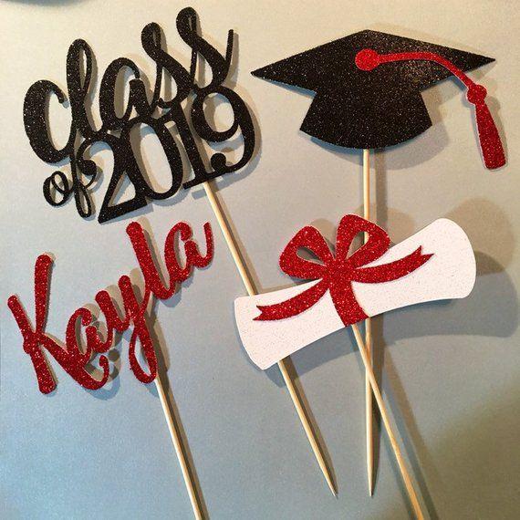 Graduation centerpiece sticks, Graduation Centerpiece, Graduation Table Decor, CLASS OF 2019 Centerpiece,Graduation Party, 2019