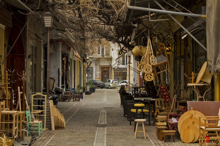 Thessaloniki. Another personal favourite of mine is this. On the backsteets of Aristotoleuos Square is a haven of traditional family firms that make everything by hand.