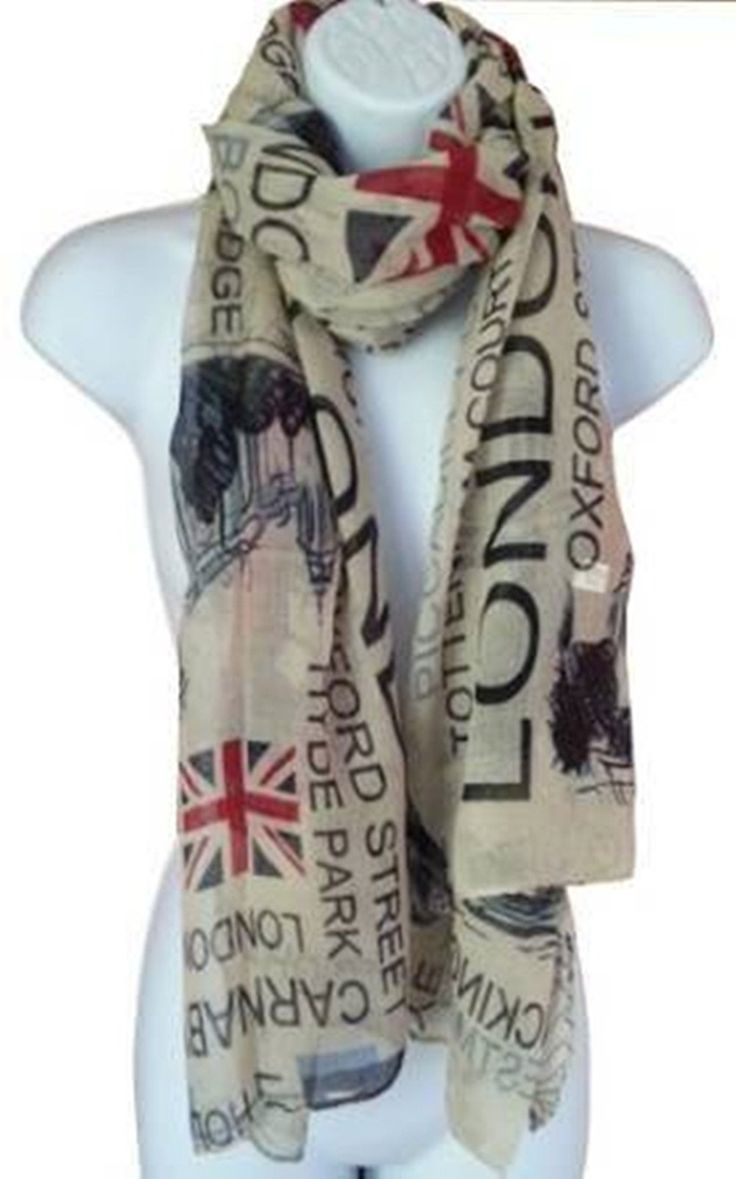 Jianyana Union Jack Scarf London Souvenir Gift Soft and Oversize Fashion Scarf (Navy) at Amazon Women's Clothing store: