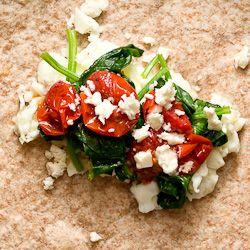 Spinach feta egg wrap: Eggs Wraps, Eggs White, Low Calories Lunches, Eggs Recipe, Spinach Feta, Feta Eggs, Wraps Recipe, White Wraps, Food Blog