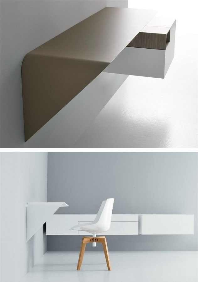 Secretary #desk / wall shelf MAMBA LIGHT by MDF Italia