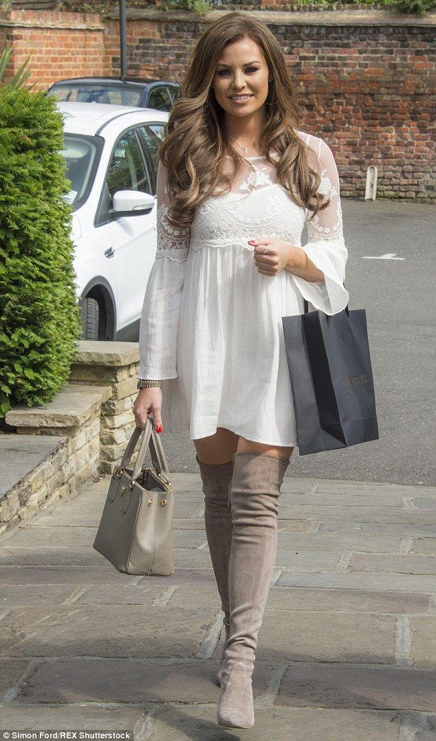 Out and about: TOWIE's Jessica Wright put on a leggy show as she stepped out in Essex on T...