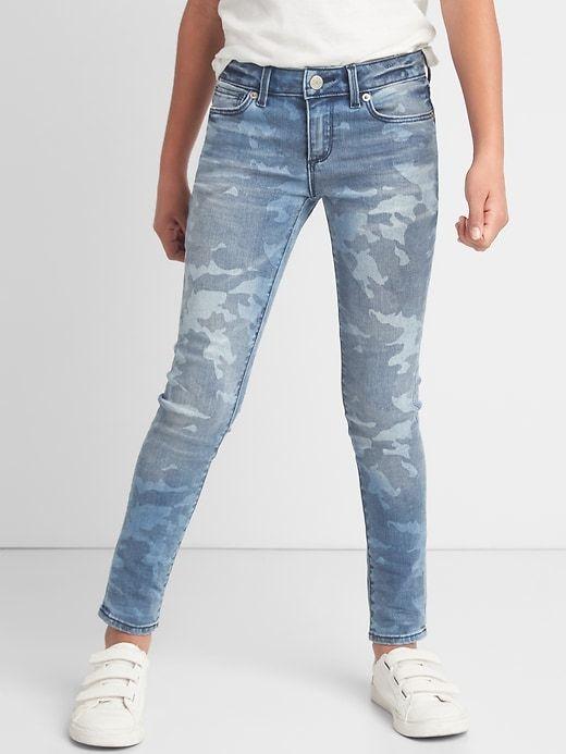 Gap Girls Stretch Camo Super Skinny Jeans Camouflage