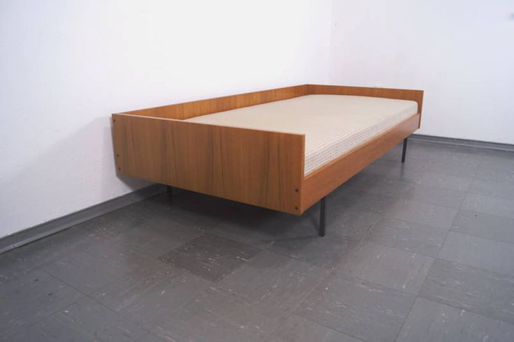 teak daybed guest bed rego mobile m bel g renkel 50s 60s. Black Bedroom Furniture Sets. Home Design Ideas